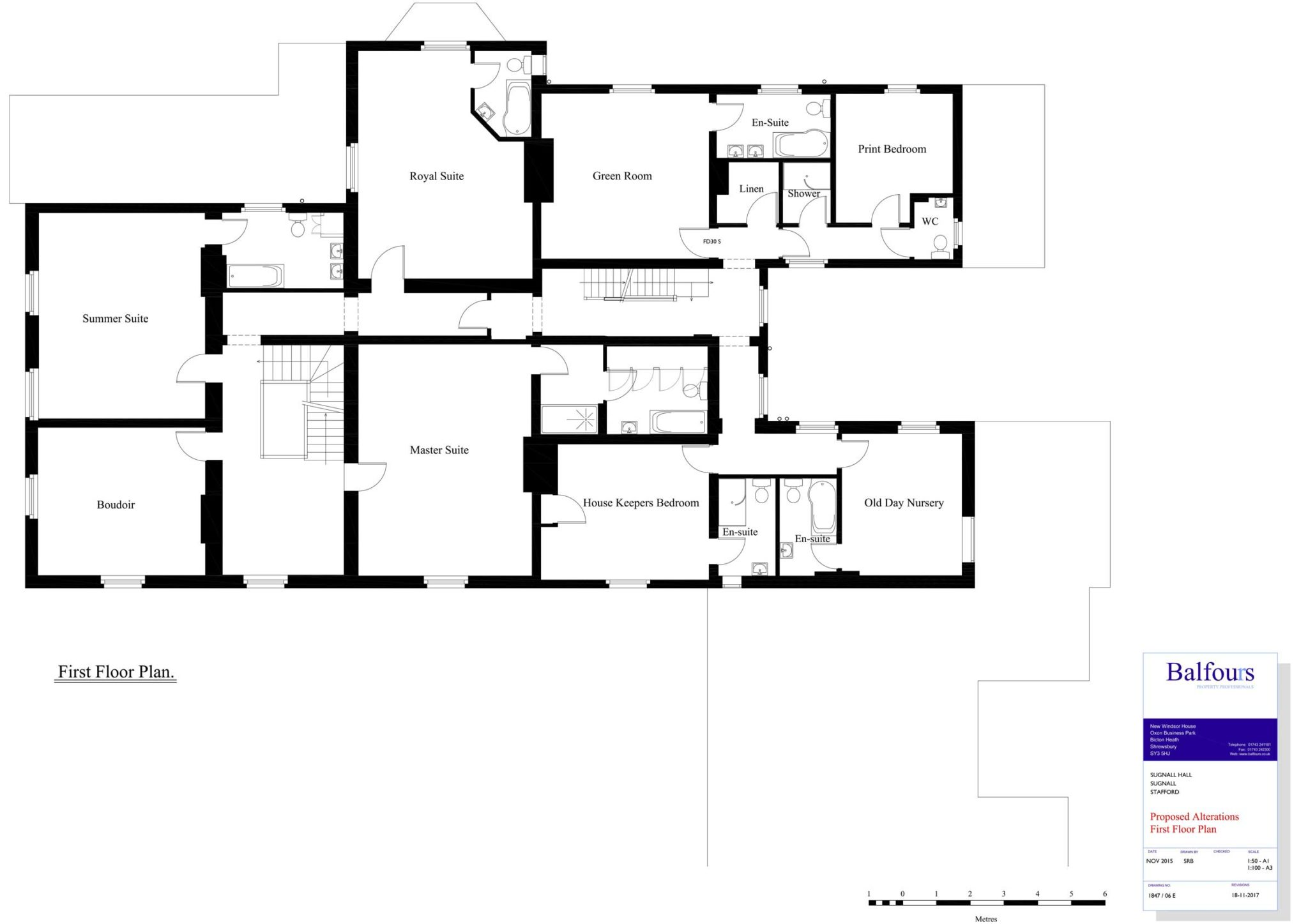 Sugnall Hall First Floor Plans
