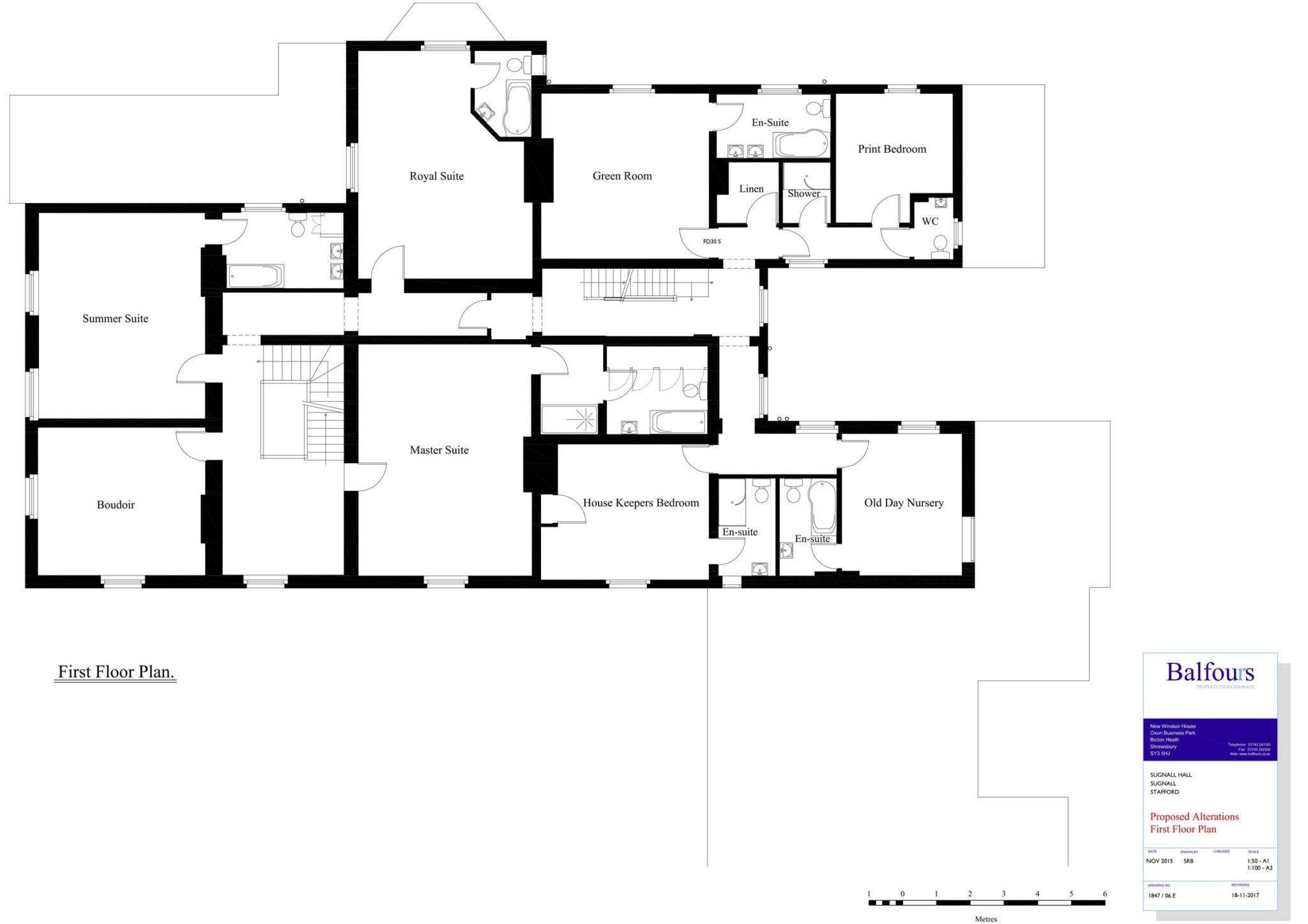 Sugnall Hall First Floor Plans
